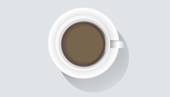 一杯逼真的咖啡矢量素材(EPS)