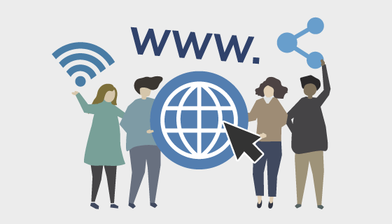 网站和在线的人们矢量素材(EPS/PNG)
