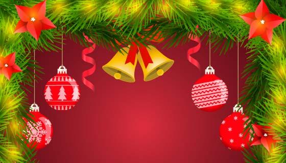 漂亮的圣诞节装饰矢量素材(EPS/AI)