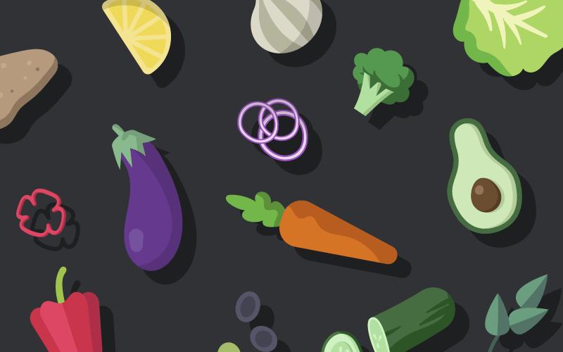 各种新鲜有机蔬菜矢量素材(EPS/免扣PNG)