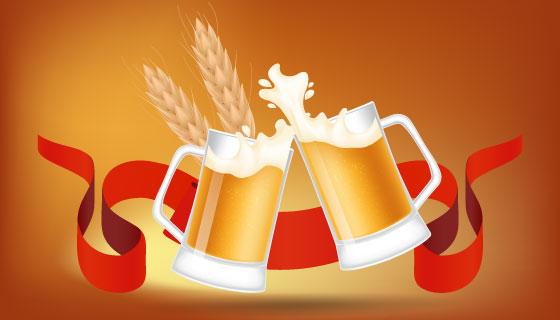 啤酒节海报矢量素材(EPS)
