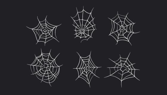 万圣节蜘蛛网矢量素材(EPS/AI/PNG)