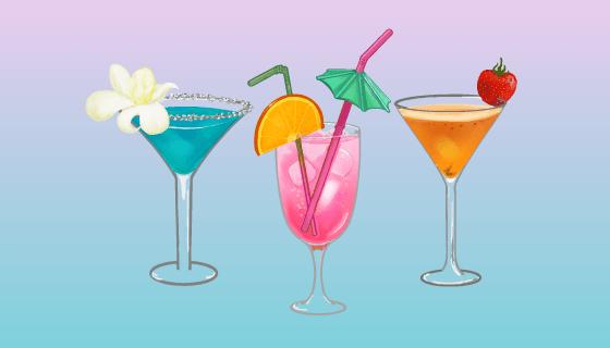 多彩美味的鸡尾酒矢量素材(EPS)