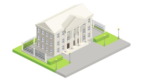 市政厅等距插图矢量素材(EPS/PNG)