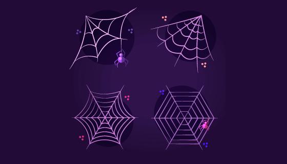 万圣节蜘蛛网矢量素材(EPS/AI)