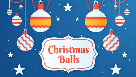 扁平圣诞节气球背景矢量素材(EPS/AI)