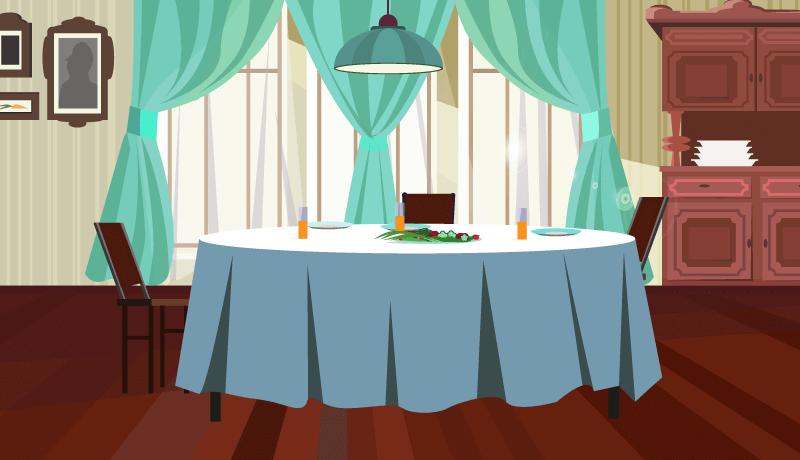 舒适大方的餐厅矢量素材(EPS)