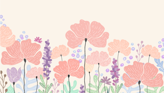 创意水彩花卉矢量素材(EPS/AI)