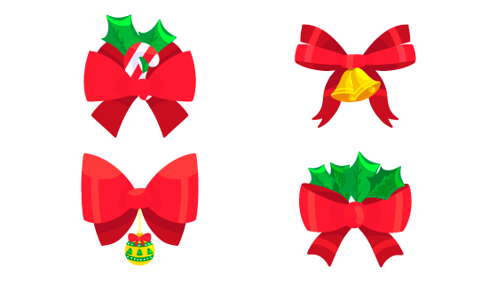 扁平风格圣诞节彩带矢量素材(eps/ai/png)