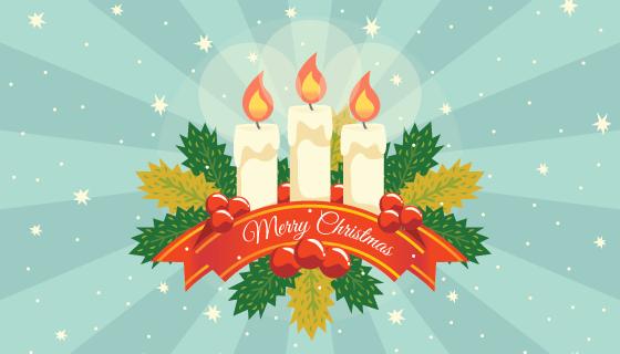 圣诞节蜡烛矢量素材(EPS/AI)