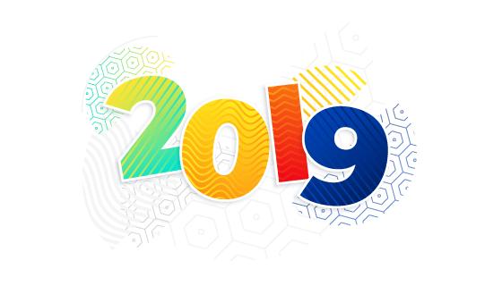 2019新年背景矢量素材(EPS)