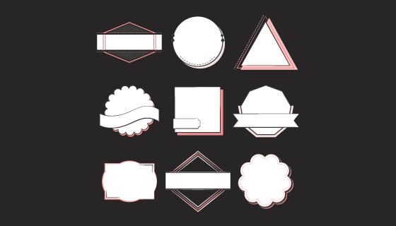 徽章和标志集合矢量素材(EPS/PNG)