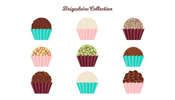 扁平多彩的巧克力球矢量素材(EPS/AI/PNG)
