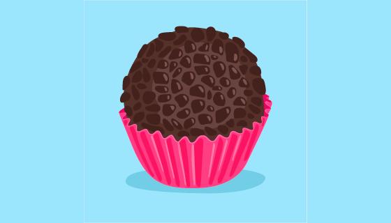 扁平风格巧克力球矢量素材(EPS/AI)