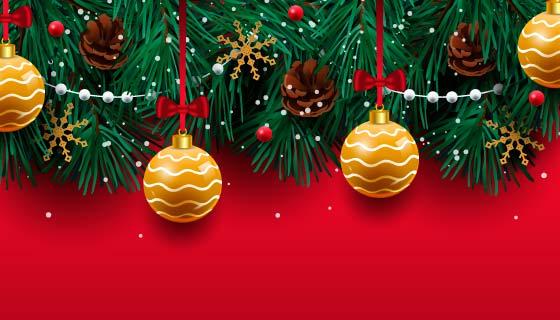 创意铃铛圣诞节背景矢量素材(EPS/AI)