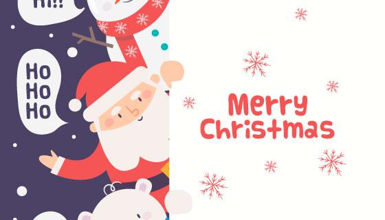 卡通风格圣诞节人物矢量素材(EPS/AI)