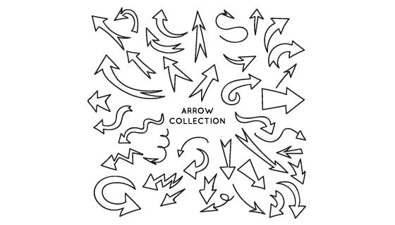 手绘风格箭头矢量素材(EPS/AI/PNG)