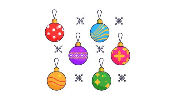 圣诞气球矢量素材(EPS/AI/PNG)