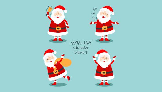 可爱的圣诞老人矢量素材(EPS/AI/PNG)
