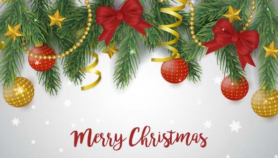 圣诞节装饰品矢量素材(EPS/AI)