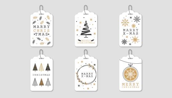 优雅的圣诞节标签矢量素材(EPS/AI/PNG)
