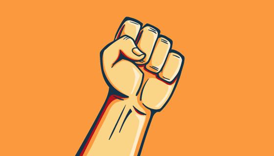 为革命举起的拳头矢量素材(EPS/AI)