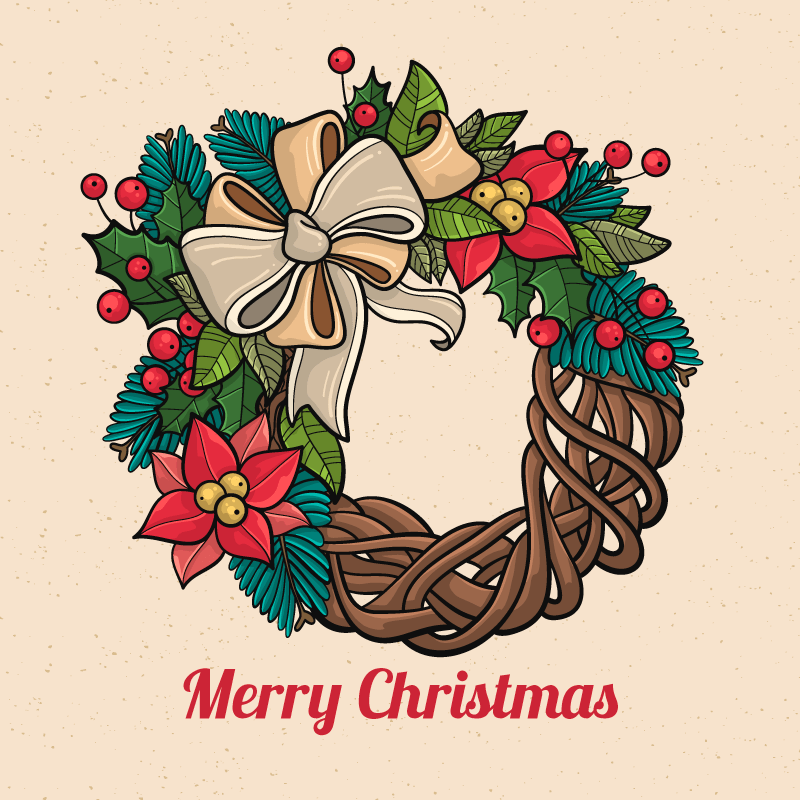 手绘圣诞装饰品矢量素材(EPS/AI/免扣PNG)