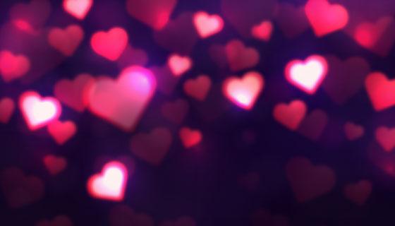 情人节闪亮的爱心背景矢量素材(EPS/AI)