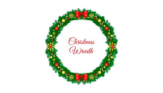 创意圣诞节花环矢量素材(EPS/AI/PNG)