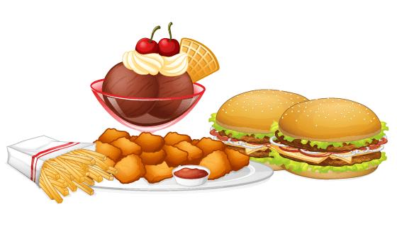 美味的快餐矢量素材(EPS/PNG)