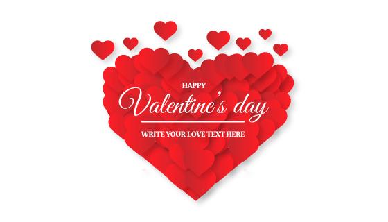 创意红色爱心情人节背景矢量素材(EPS/PNG)