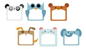 6款可爱的动物相框免费矢量素材(AI/EPS)