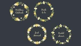 4款婚礼花环矢量素材(AI/EPS)