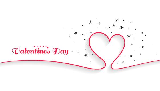 线条爱心情人节背景矢量素材(EPS)