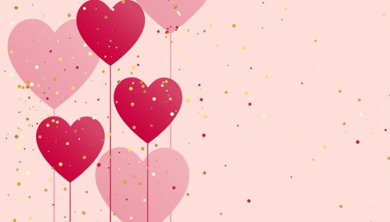 爱心气球背景矢量素材(EPS)