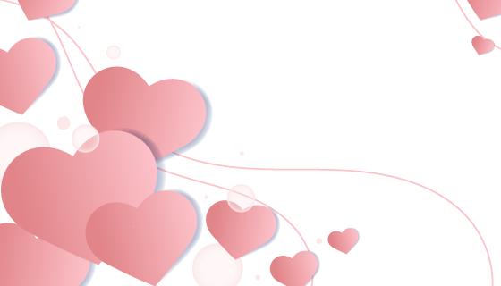 爱心情人节背景矢量素材(EPS)