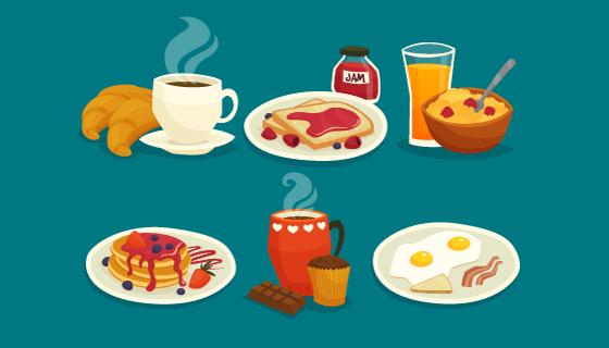 美味的早餐矢量素材(EPS)