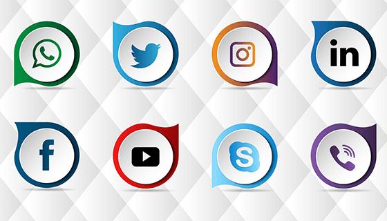 12个社会化图标矢量素材(EPS)