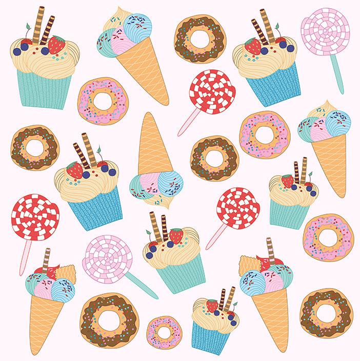 卡通冰淇淋棒棒糖矢量素材(EPS)
