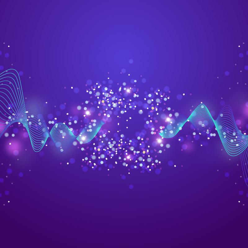 闪闪发光的粒子背景矢量素材(EPS/AI)