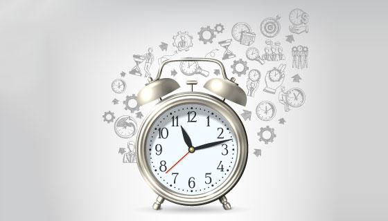 创意时间管理海报矢量素材(EPS)