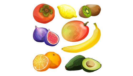 逼真美味的水果矢量素材(EPS)