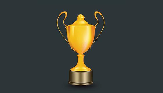 金色奖杯矢量素材(EPS)