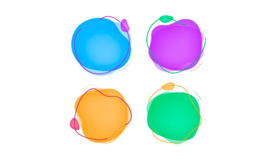 抽象液体气泡矢量素材(EPS/AI/PNG)