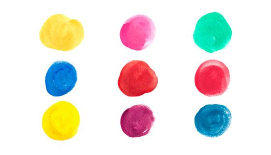 多彩水彩颜色矢量素材(EPS/AI/PNG)