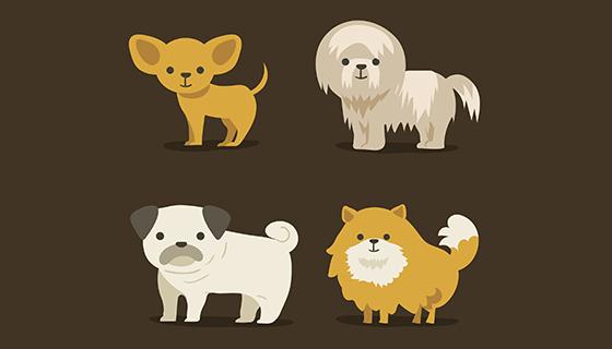 4款可爱的狗矢量素材(eps/ai)