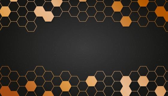 黑金色商务背景矢量素材(EPS/AI)