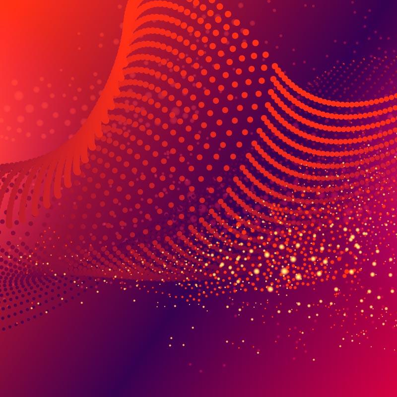 发光粒子波浪背景矢量素材(EPS/AI)