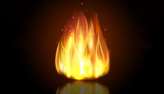 逼真的火焰矢量素材(EPS)
