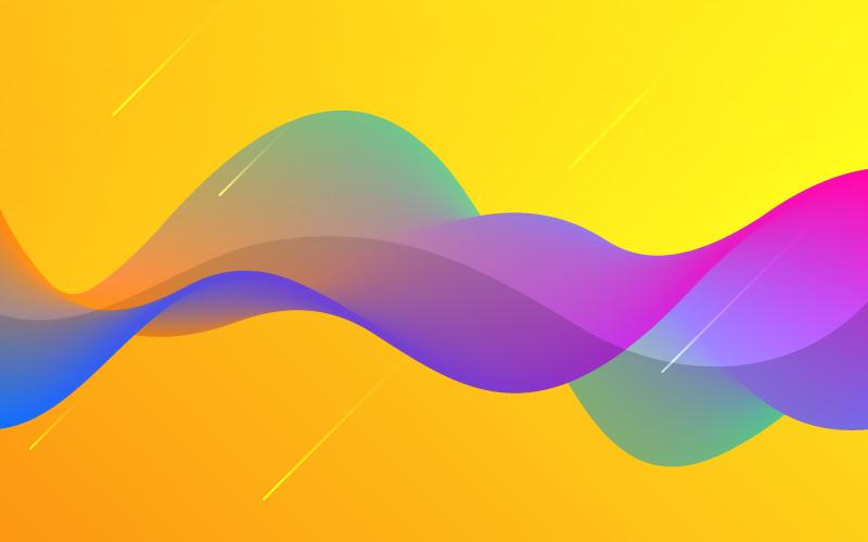 抽象波浪背景矢量素材(EPS)